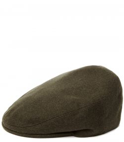 Short Peak Waterproof Loden Cap - Khaki Green