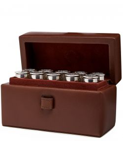 Position Finder Flasks with Leather Case