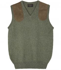 Ladies Sleeveless Shooting Sweater - Green