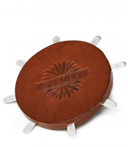 Leather & Silver Circular Position Finder