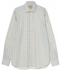 Mens Multicolour Tattersall Shirt - Blue