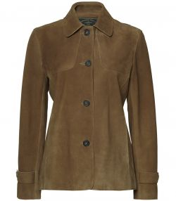 Glennie Deerskin Jacket - Chestnut - Front View