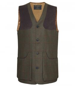 Mens Technical Tweed Shooting Vest - Lawrence