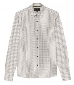 Ladies Classic Tattersall Shirt - Khaki Green