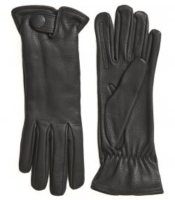 Mens Cashmere Lined Deerskin Shooting Gloves