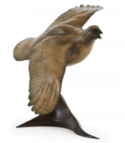 Grouse in Flight - A Glasby