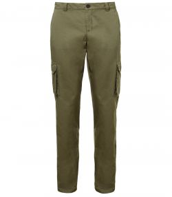 Mens Cargo Trousers - Safari Green