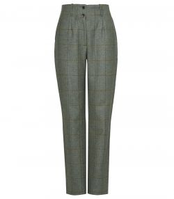 Ladies High Waisted Tweed Trousers