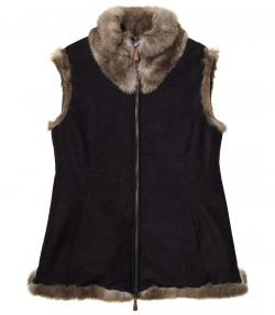 Ladies Fur and Loden Gilet
