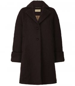 Ladies Mohair Coat - Mahogany