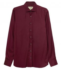 Mens Cashmerello Shirt - Wine