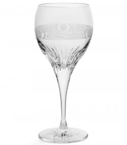 Gun Scroll Crystal Wine Glasses