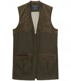 Mens Clay Shooting Vest - Dark Green