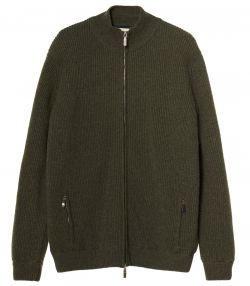 Mens Orkney Windproof Knit Jacket - Loden
