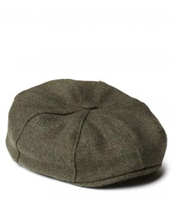York Bakerboy Cashmere Tweed Cap - Legerwood