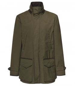Mens Dry Wax Jacket - Dark Olive