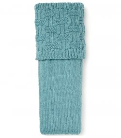Belton Handknitted Shooting Sock - Teal