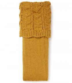 Marston Handknitted Shooting Sock - Gold