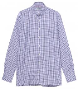 Mens Check Shirt - Purple