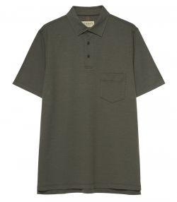 Mens Berkshire Polo Shirt - Pocket - Green