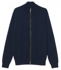 Mens Zip Up Sweater - Navy