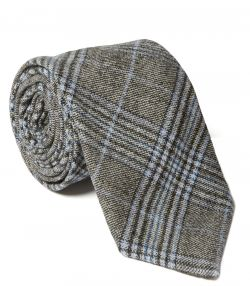 Prince Of Wales Check Tie - Blue