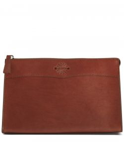 Leather Wash Bag - Large - Purdey Havana