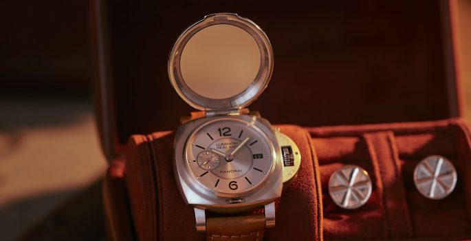 Panerai for Purdey Watch in travel watch roll