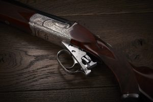 Removable trigger plate on a Purdey Sporter