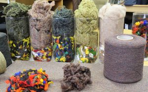 colour components in tweed cloth design