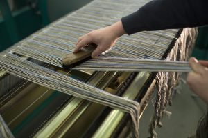 Dressing out the warp at Lovat Mill