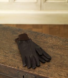 Calf Leather Shooting Glove with Knitted Cuff