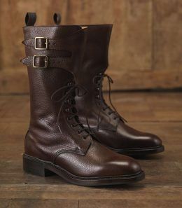 Ladies' Grain Leather Twin Strap Boots