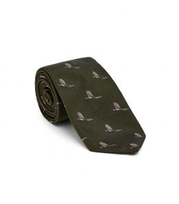 Pheasant In Flight Tie