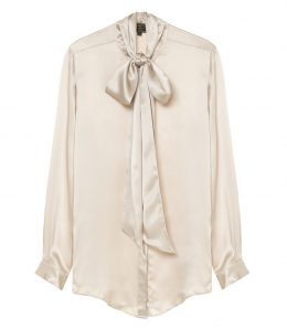 Ladies Pussybow Silk Shirt