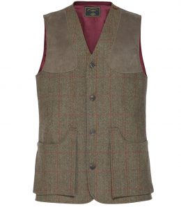 Mens Tweed Shooting Vest