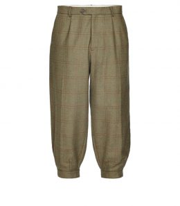 Mens Pleated Technical Tweed Breeks