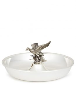 Silver Dish/Ashtray-Central Flying Duck (925)