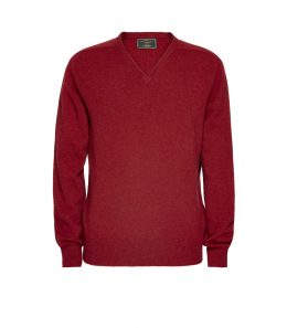 Mens Lambswool V Neck Sweater