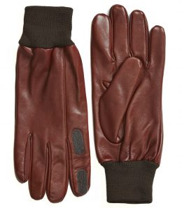Mens Calf Leather Shooting Glove - Knitted Cuff