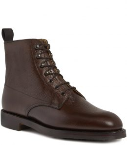 Ladies Grain Leather Ankle Boots