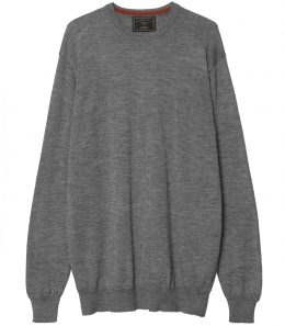 Mens Silk Blend Crew Neck Sweater