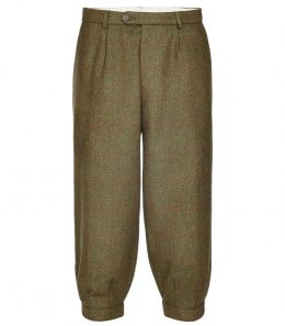 Mens Pleated Tweed Breeks