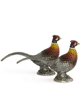 SALT & PEPPER ENAMELLED PHEASANT