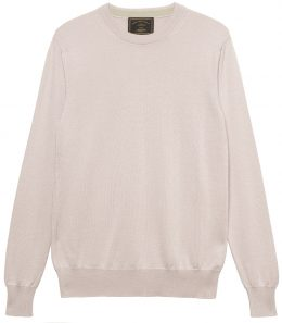 Ladies Silk Blend Crew Neck Sweater