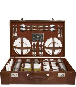 Leather Cased Picnic Set
