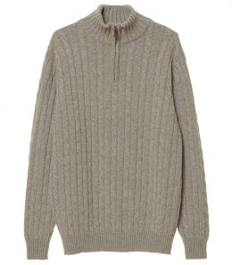Mens Hammersmith Cable Cashmere Sweater