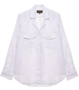 Ladies Linen Safari Shirt
