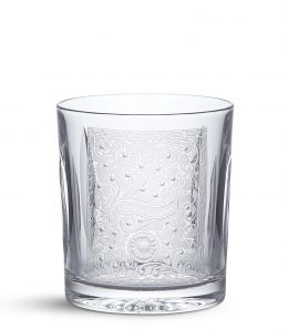 Crystal Tumbler with Gun Scroll Engraving