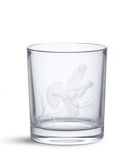 Crystal Tumbler - Ruffed Grouse